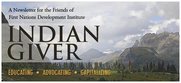 Indian Giver Newsletter Header
